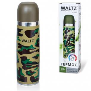 Термос WALTZ (ВАЛЬЦ)  с узким горлом, 0,5 л, нержавеющая сталь, хаки, 601409