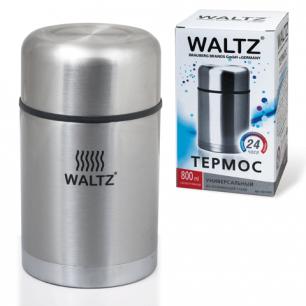 Термос WALTZ (ВАЛЬЦ)  универсальный с широким горлом, 0,8 л, нержавеющая сталь, 601408