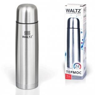 Термос WALTZ (ВАЛЬЦ)  классический с узким горлом, 1 л, нержавеющая сталь, 601414