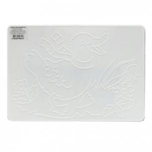 Доска для работы с пластилином ЛУЧ А4, 297х210 мм, белая, с рельефным трафаретом, 17С1133-08