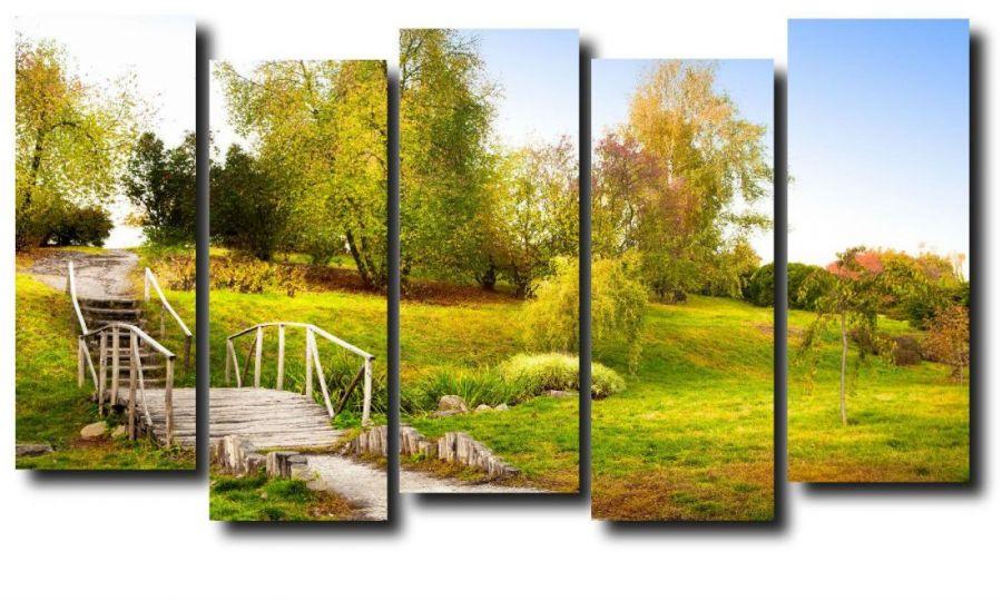 Модульная картина Природа. Мост