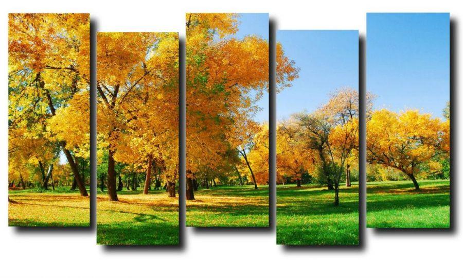 Модульная картина Природа. Ранняя осень