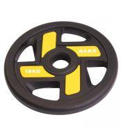 Диск полиуретановый жёлтый, D 51, 15 кг P-TPU-15K-ALEX