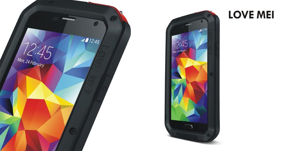 Антивандальный чехол LOVE MEI POWERFUL для Samsung Galaxy S5