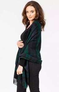 Роскошная классическая шотландская  шаль, высокая плотность, 100 % драгоценный кашемир ,  Тартан Чёрная Стража Блэкуотч (премиум)