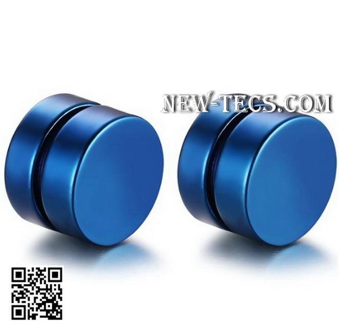 Магнитные серьги синие (4 шт)