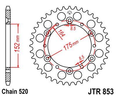 JTR 853, звезда задняя сталь