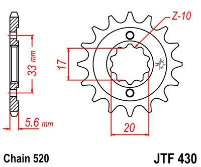 JTF 430, звезда передняя