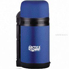 """Термос """"Арктика"""" с широким горлом 203-800 (универсальный, с резин. напылением, синий 800 мл)"""