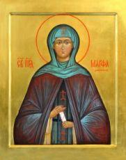 Икона Марфа Дивеевская (рукописная)