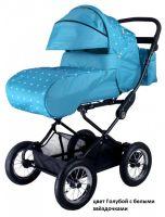 детская коляска Трансформер Babyhit EVENLY Light цвет Голубой с белыми звёздочками