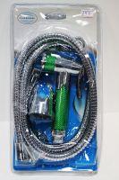 Vaserzberg Гигиенический набор с хромированной лейкой с зелеными вставками 147