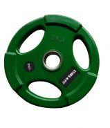 Диск обрезиненный зелёный  WP074-10.0, диаметр 51мм, 10кг