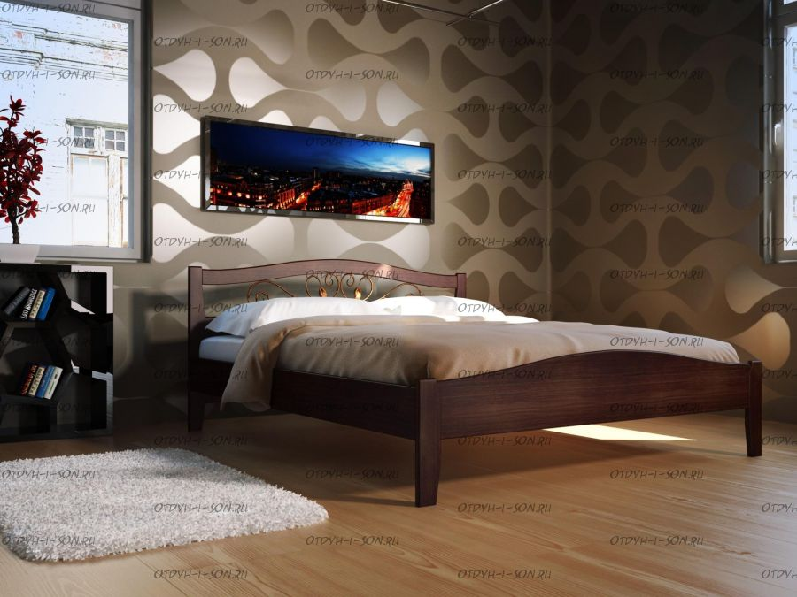 Кровать Верона 1 (Альда 1) Массив Dreamexpert
