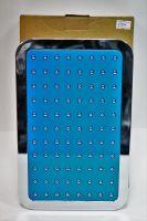 Тропический душ, 250мм Х 160мм, лейка с синей вставкой и белым покрытием