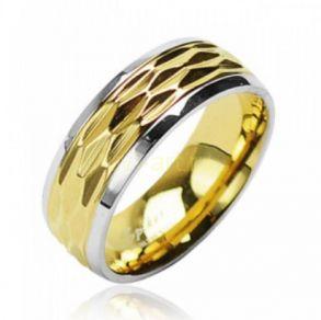 Двухтонное позолоченное кольцо Spikes (арт. 280137)