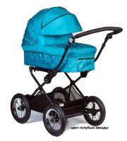 Детская модульная комбинированная коляска Babyhit Evenly 2 в 1 цвет голубые звезды