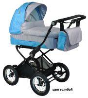 Детская модульная комбинированная коляска Babyhit Evenly 2 в 1 цвет голубой