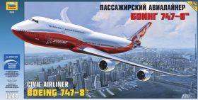 Сборная модель Пассажирский авиалайнер Боинг 747-8 (1:144), ЗВЕЗДА