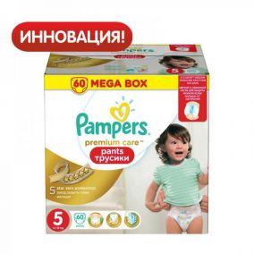 Трусики Pampers Premium care 5 (12-18 кг ) 60 шт