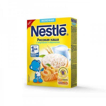 Каша молочная Nestle рис/морковь/абрикос 250г 5м