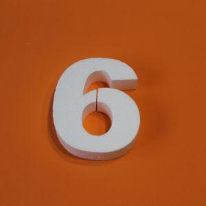 "Цифра ""6"" 15 см, пенопласт (1уп = 5шт)"