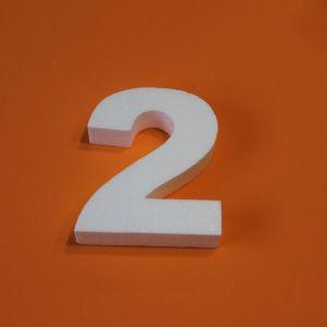 "Цифра ""2"" 15 см, пенопласт (1уп = 5шт)"