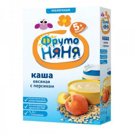 Каша молочная ФрутоНяня овсяная с персиками 200 гр