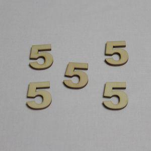 """Заготовка цифра """"5"""" высота 3 см, фанера 3 мм (1уп = 20шт)"""