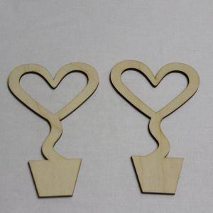"""Заготовка для топиария """"Сердце с вырезом"""" высота 15 см, фанера 3 мм (1уп = 5шт)"""