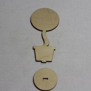 """Заготовка для топиария """"Круг с подставкой"""" высота 15 см, фанера 3 мм (1уп = 5шт)"""