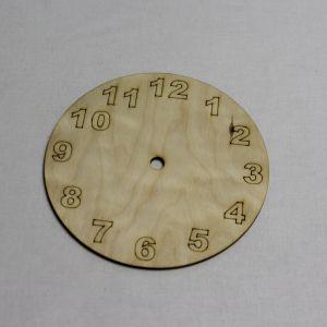 """Заготовка """"Часы"""" высота 15 см, фанера 3 мм (1уп = 5шт)"""