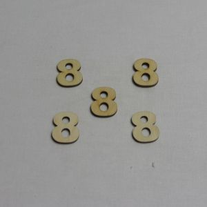 """Заготовка цифра """"8"""" высота 3 см, фанера 3 мм (1уп = 20шт)"""