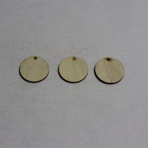 """Заготовка """"бирка круглая""""  высота 4 см, фанера 3 мм (1уп = 20шт)"""