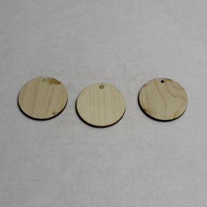 """Заготовка """"бирка круглая""""  высота 5 см, фанера 3 мм (1уп = 20шт)"""