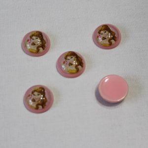 Кабошон (пластик) 22 мм, 1уп=10шт, Арт. КБП0260