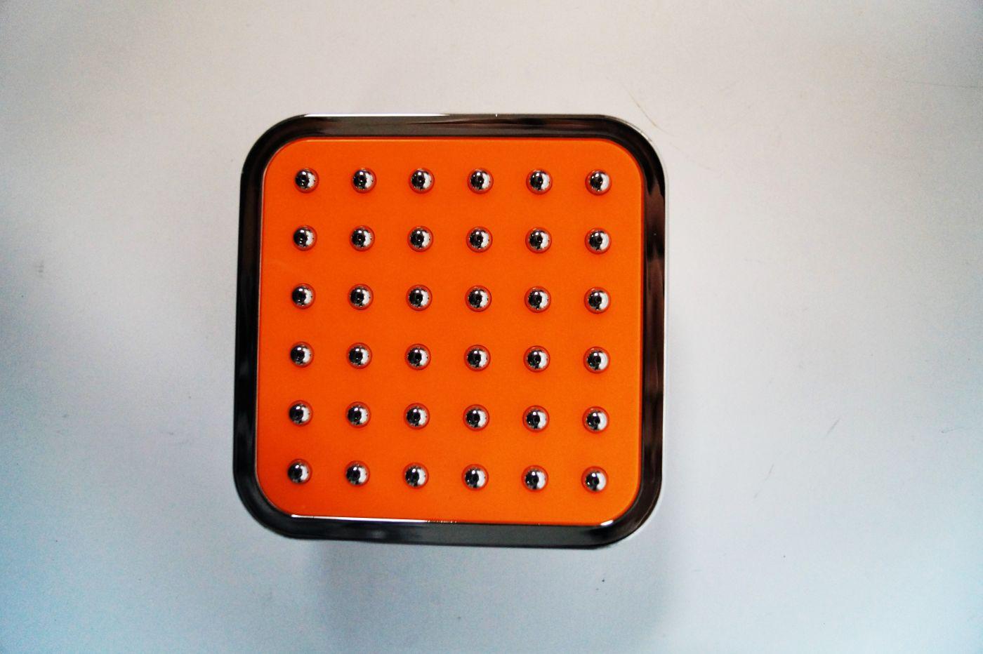 АА-114, Маленькая потолочная оранжевая лейка, с хром пупырышками