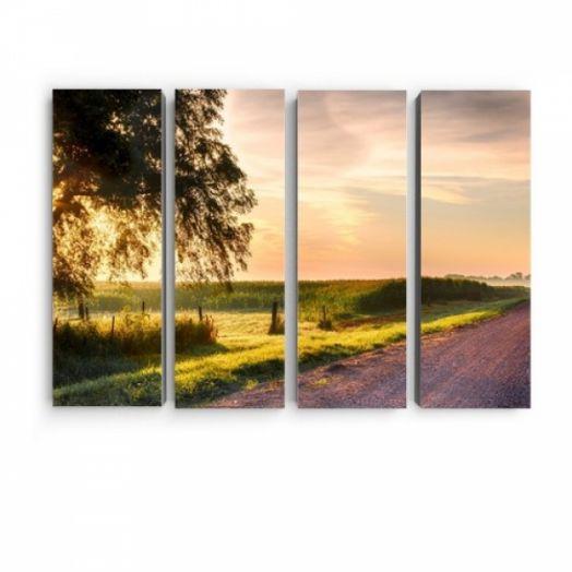 Модульная картина Деревенская дорога