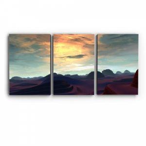 Модульная картина Солнечная пустыня