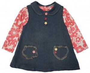 Джинсовый сарафан и блузка для девочки Тайланд