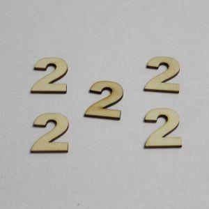 """`Заготовка цифра """"2"""" высота 3 см, фанера 3 мм"""
