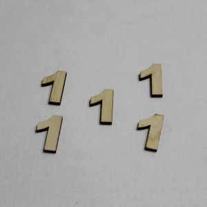 """`Заготовка цифра """"1"""" высота 3 см, фанера 3 мм"""