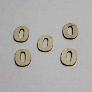 """`Заготовка цифра """"0"""" высота 3 см, фанера 3 мм"""