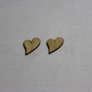 """`Заготовка """"Сердце не симметричное"""" высота 3 см, фанера 3 мм"""
