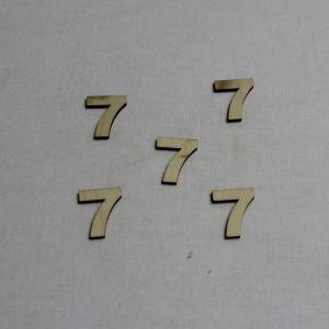"""`Заготовка цифра """"7"""" высота 3 см, фанера 3 мм"""