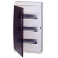 Бокс ABB UNIBOX 36м белый с дымчатой дверцей и шинами