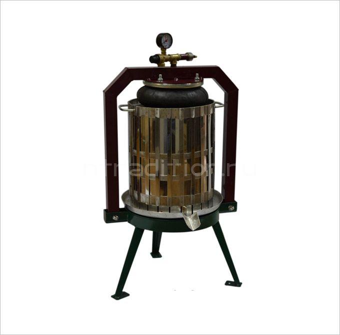 Винный пресс для отжима сока с пневмоприводом Муромец П, 29 л