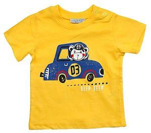 Желтая футболка для мальчика Watch Me