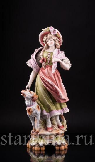 Изображение Девушка с собакой, Германия, 19 в