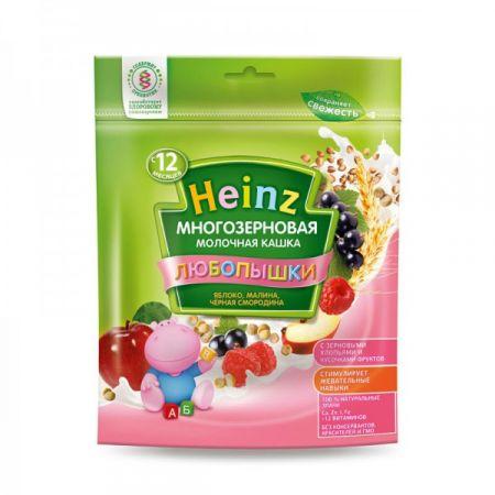 Каша молочная Heinz Любопышки многозерновая яблоко/малина/черная смородина (с 12 мес.) 200 г